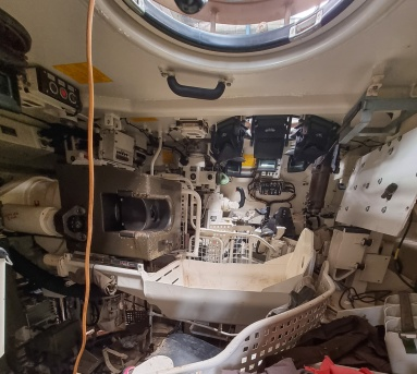Inside a tank