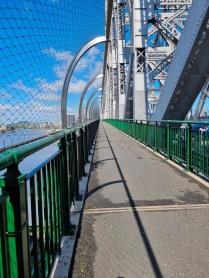 Walk across the bridge and back