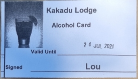 Alcohol Card