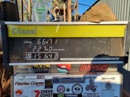 Diesel $2.27 litre
